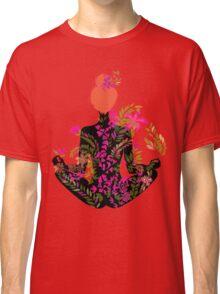 flower meditation in pink and purple Classic T-Shirt