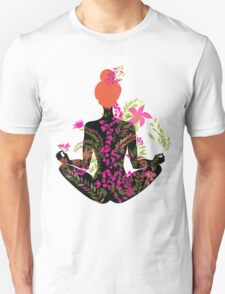 flower meditation in pink and purple Unisex T-Shirt
