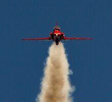 Red Arrow Head On  by J Biggadike