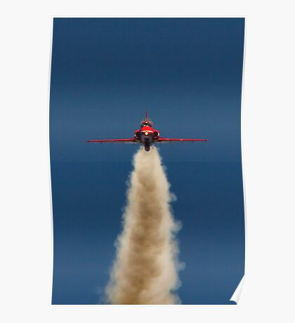 Red Arrow Head On  Poster