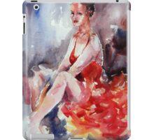Ballet Dancer in Red Dress - Dance Art Gallery iPad Case/Skin