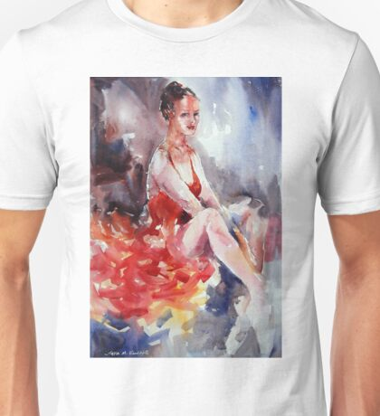 Ballet Dancer in Red Dress - Dance Art Gallery Unisex T-Shirt