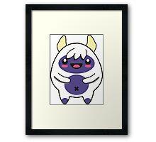 cute purple monster Framed Print