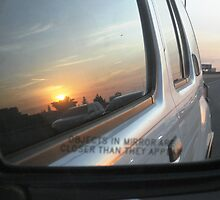 Objects In the Rear View Mirror May Appear Closer Than They Are by WhiteDove Studio kj gordon