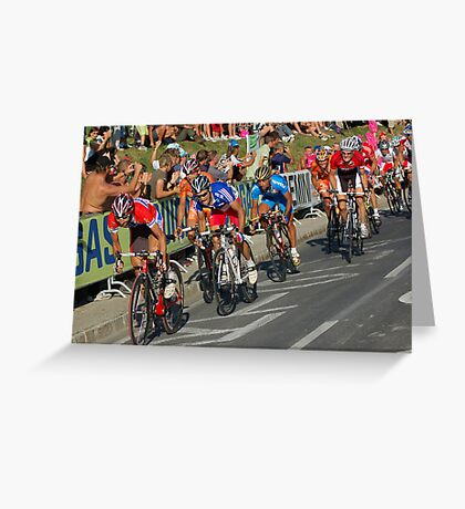 Chasing the leader Greeting Card