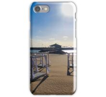 EMPTY BEDS ON THE BEACH iPhone Case/Skin