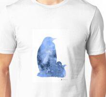 Penguins silhouette art print watercolor painting Unisex T-Shirt