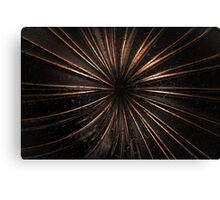 Dark Metal Sun Canvas Print