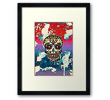 Mexican Sugar Skull, Dias de los muertos, Days of the Dead Framed Print