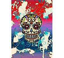Mexican Sugar Skull, Dias de los muertos, Days of the Dead Photographic Print