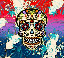 Mexican Sugar Skull, Dias de los muertos, Days of the Dead by nitty-gritty