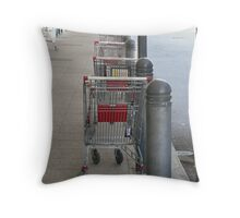 All in a row Throw Pillow