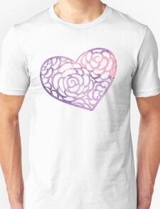 Heart from paper Valentines day card vector background T-Shirt