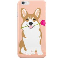 Valentines - Corgi with Rose - Love, Cute Corgi for Corgi Owners, Trendy Girls Love, Valentines Day iPhone Case/Skin