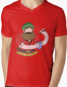 Coffee and Bacon Mens V-Neck T-Shirt