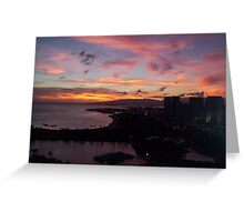 Honolulu Sunset Greeting Card