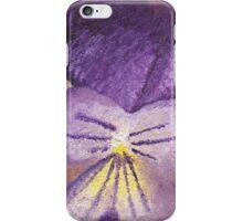 Oil painting of Viola Tricolor - Heartsease  iPhone Case/Skin