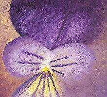 Oil painting of Viola Tricolor - Heartsease  by KerstinB