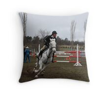 Jump Comp 2 Throw Pillow