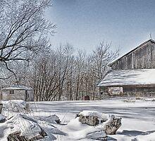 Rustic Wisconsin Winter by kimdiane