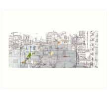 Beirut from a rooftop Art Print