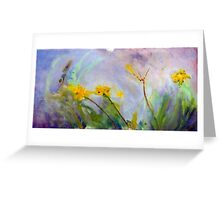 Bumble bee on flowers Greeting Card