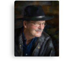 Black Hat Portrait Canvas Print