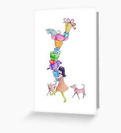 Gifts Girl Greeting Card