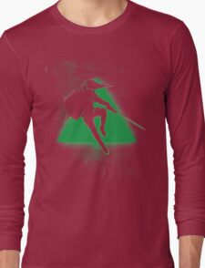 Silhouette Green Long Sleeve T-Shirt