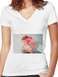the sun won't set  Women's Fitted V-Neck T-Shirt