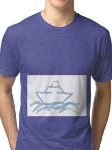 Ship on a Painted Sea Tri-blend T-Shirt