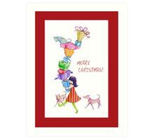Gifts Girl Christmas Art Print