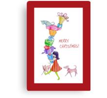 Gifts Girl Christmas Canvas Print