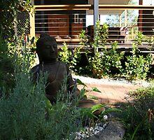 garden buddha by kimtruong