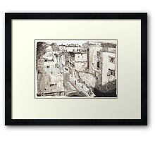 Delhi from a rooftop Framed Print