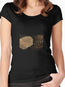 Snake skin Women's Fitted Scoop T-Shirt