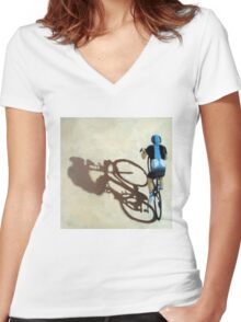 SIngle Focus - cycling art T-Shirt Women's Fitted V-Neck T-Shirt