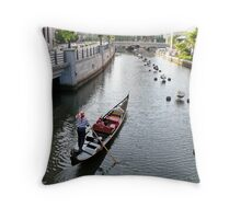 Gondola cruise on Waterfire Night ~ Providence Throw Pillow