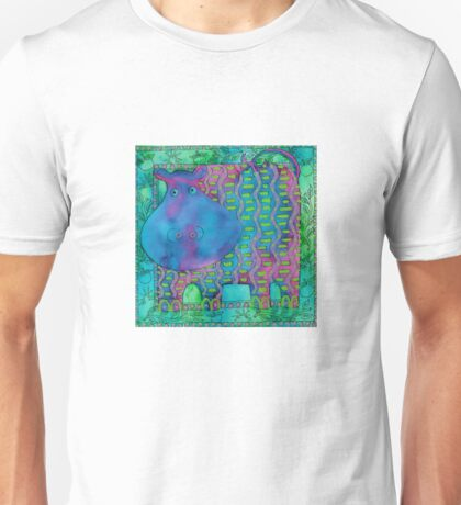 Patterned Hippo Unisex T-Shirt