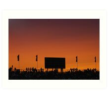 Sunset at the Races Art Print