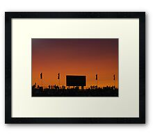 Sunset at the Races Framed Print
