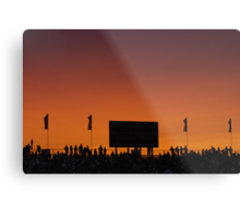 Sunset at the Races Metal Print