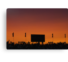 Sunset at the Races Canvas Print