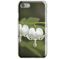 White Bleeding Hearts Dicentra Hunter Green and Chartreuse iPhone Case/Skin