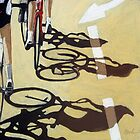 Cycling Race 2 - Tour de France inspired art by LindaAppleArt
