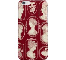 Cameos - red iPhone Case/Skin