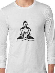 Buddha (Black Print) Long Sleeve T-Shirt