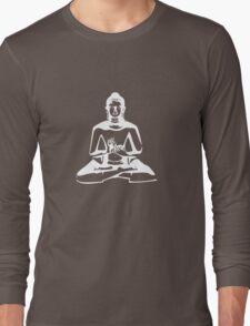 Buddha (White Print) Long Sleeve T-Shirt