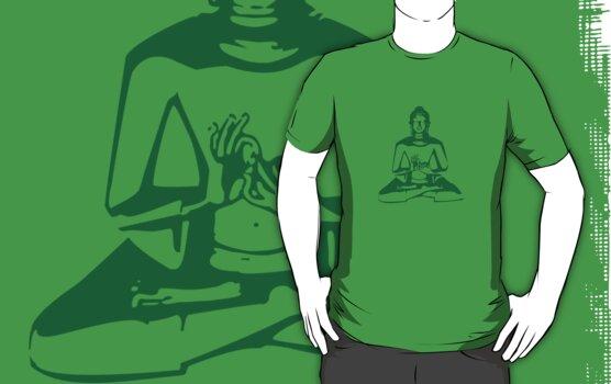 Buddha (Green Print) by rudeboyskunk