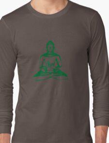 Buddha (Green Print) Long Sleeve T-Shirt